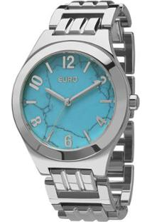 R  251,90. Zattini Relógio Moderno Feminino Azul Turquesa U2 Feminino-Prata  Euro ... 1dbfe3754e