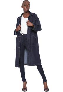Casaco Sobretudo Jeans Colcci Eco Soul Azul