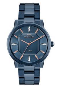 Off Premium. Relógio Premium Feminino Azul Technos Crystal Elegance e4918ec46b