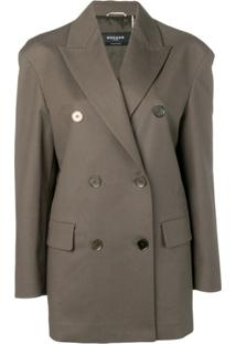 Rochas Slouchy Double Breasted Blazer - Verde