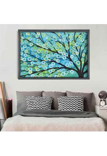 Quadro Love Decor Com Moldura Árvore Painted Grafitti Metalizado Médio