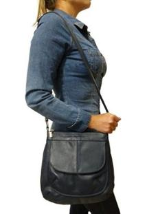 Bolsa Topgrife Transversal Feminina - Feminino-Azul Escuro