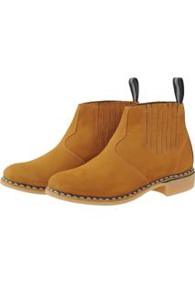 Bota Pessoni Boots & Shoes Social Em Couro Ziper Lateral Marrom