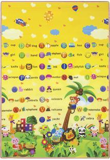 Tapete Jolitex Recreio Alfabetos 120X180 Amarelo