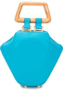 Sabry Marouf Bolsa Tote Micro Tut - Azul