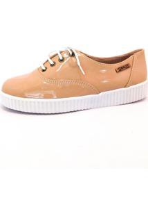 Tênis Creeper Quality Shoes Feminino 005 Verniz Nude 39