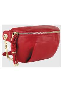 Bolsa Pochete Lenna'S Transversal B038 Vermelho