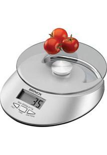 Balança Digital Para Cozinha Brinox Com Relógio 2923/101