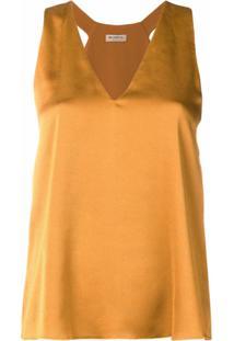Blanca Vita Blusa Sem Mangas - Amarelo