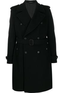 Tagliatore Trench Coat De Alfaiataria - Preto