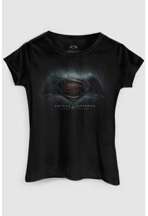 Camiseta Dc Comics Batman Vs Superman Dawn Of Justice Bandup! - Feminino-Preto