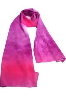 Echarpe Smm Acessórios Mesclada Rosa E Purpura