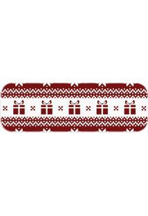 Passadeira Love Decor Presentes De Natal Vermelho - Kanui