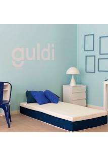 Colchão Solteiro Mola Ensacada Guldi Firme (25X88X188) Azul E Branco