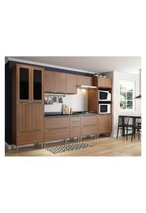 Cozinha Modulada Multimóveis 5451 Calábria 7 Peças Nogueira