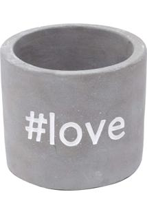 Cachepot Concreto With Love Cinza 7,7X7,7X6,7 Urban