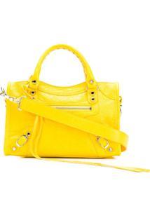 Balenciaga Bolsa Classic Mini City - Amarelo