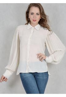 Camisa Marcia Mello Chiffon Prince Off White
