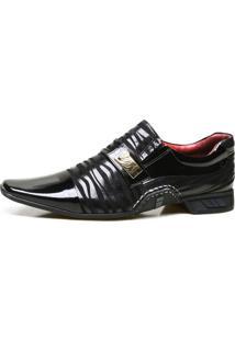 Sapato Social Calvest Artesanal Em Couro Nobuck Com Textura Preto
