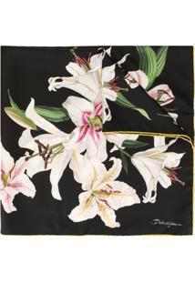 Dolce & Gabbana Lenço Estampado Lily - Preto