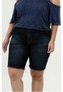 Bermuda Feminina Jeans Plus Size Razon