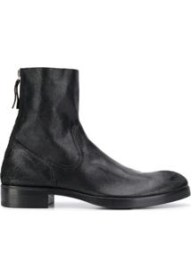 Premiata Zipped Ankle Boots - Preto