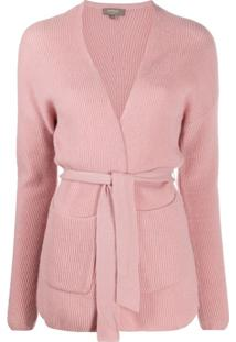 N.Peal Tied Cashmere Cardigan - Rosa