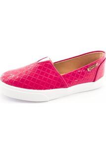 Tênis Slip On Quality Shoes Matelassê Feminino - Feminino-Pink
