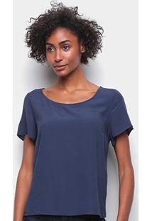 Camiseta Forum Ampla Feminina - Feminino-Azul