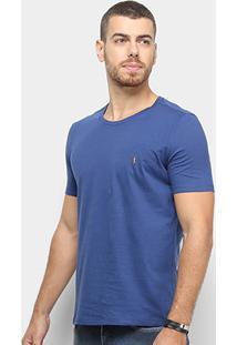 Camiseta Zoomp Crewneck 40/1 Masculina - Masculino-Azul