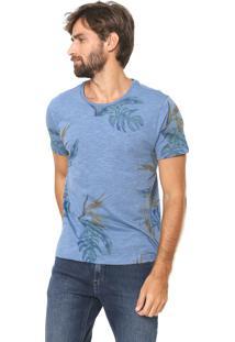 Camiseta Aramis Reta Estampada Azul