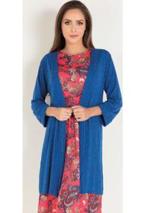 Kimono Azul Royal Moda Evangélica
