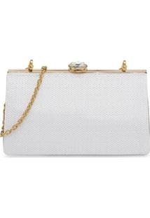 Miu Miu Bolsa Com Paetê 'Miu Solitaire' - Branco