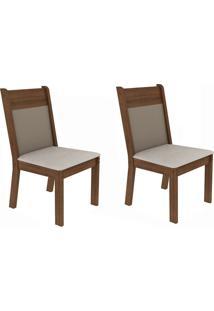 Cadeiras Kit 2 Cadeiras 4280X Marrom - Madesa