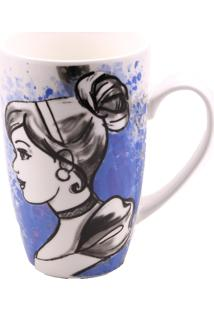 Caneca Minas De Presentes Princesas Azul