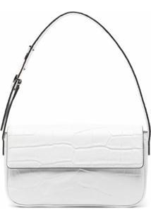 Staud Tommy Leather Shoulder Bag - Branco