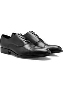 Sapato Social Brogan Eccellenza Damon Black Masculino - Masculino-Preto