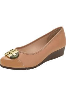 Sapato Feminino Anabela Moleca - 5156770 Bege 34