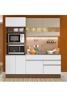 Cozinha Compacta 6 Portas Glamy Camili Rustic/Branco/Crema - Madesa