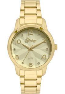 Relógio Condor Feminino Analógico Dourado Co2039Awk4D - Kanui