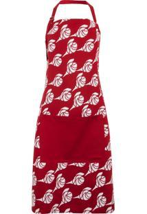 Avental Copa E Cia Female Red Roses Vermelho
