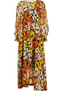 Mcq Alexander Mcqueen Vestido Mangas Longas Com Estampa Floral - Preto
