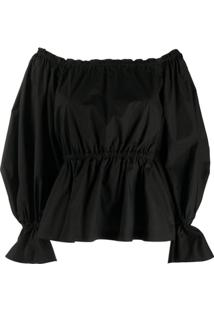 Pinko Off-Shoulder Oversized Sleeve Blouse - Preto
