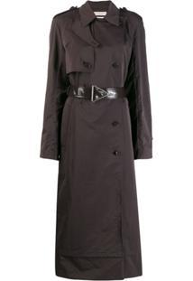 Bottega Veneta Trench Coat Com Cinto - Marrom