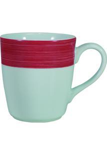 Caneca Porcelana Schmidt 225 Ml - Cilíndrica Vermelho