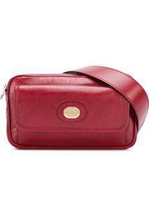 Gucci Pochete Com Placa De Logo - Vermelho