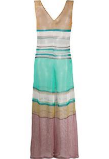 Missoni Mare Striped Sleeveless Knit Jumpsuit - Azul