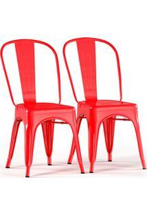 Conjunto Com 2 Cadeiras Tolix Vermelho