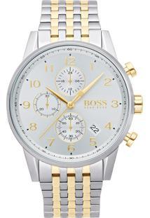 Relógio Hugo Boss Masculino Aço Prateado E Dourado - 1513499