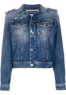 Department 5 Jaqueta Jeans Com Lavagem Estonada - Azul